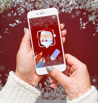 Christmas Coloring box - Santa gives gifts to you poster