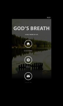 God's Breath Devotional poster