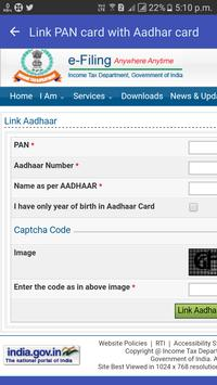 Link PAN card with Aadhar card screenshot 2