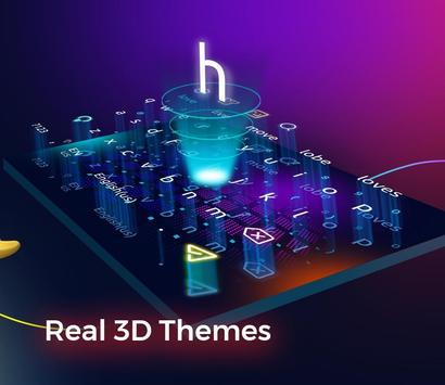 Cheetah Keyboard gifs, emoji en 3D-thema's APK-screenhot