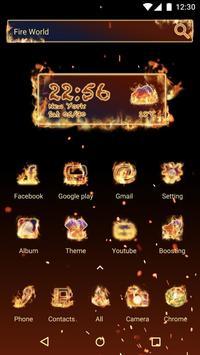 Fire World  - Panda Launcher Theme poster