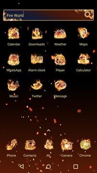 Fire World  - Panda Launcher Theme apk screenshot