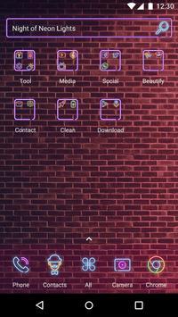 Neon Lights  - Panda Launcher Theme apk screenshot