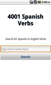4001 Spanish Verbs poster