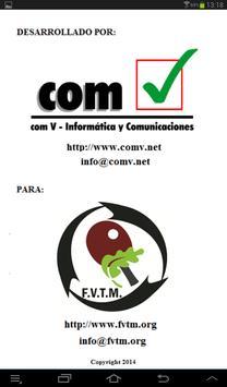 Marcador (FVTM) Tenis de Mesa apk screenshot
