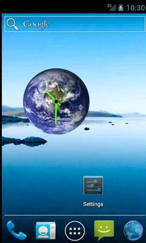 Earth Clock Widget poster