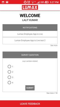 Lumax Employee App apk screenshot