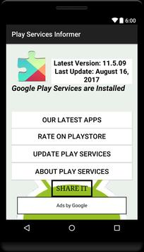 Services Update Informer poster
