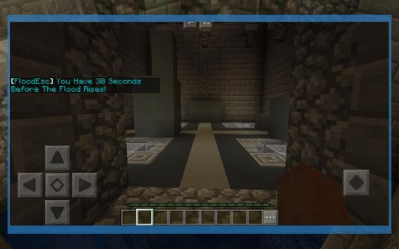 Flood Escape - Parkour map for MCPE screenshot 1