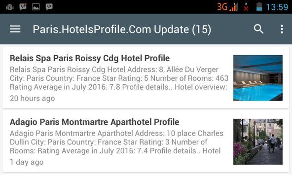 Paris Hotels apk screenshot