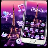 Purple Eiffel Tower Theme icon