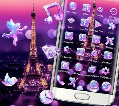 Purple Eiffel Tower Theme screenshot 4