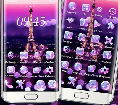 Purple Eiffel Tower Theme screenshot 1