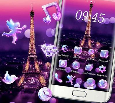 Purple Eiffel Tower Theme screenshot 2