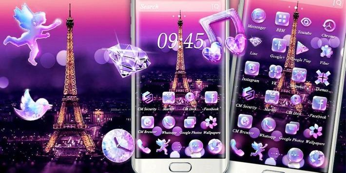 Purple Eiffel Tower Theme screenshot 3
