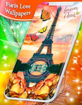 Paris Love Live Wallpapers screenshot 6