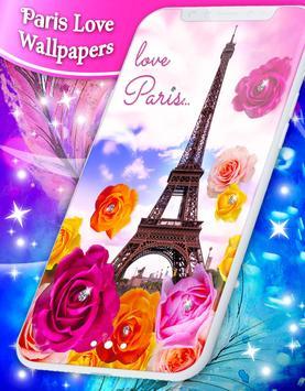 Paris Love Live Wallpapers poster