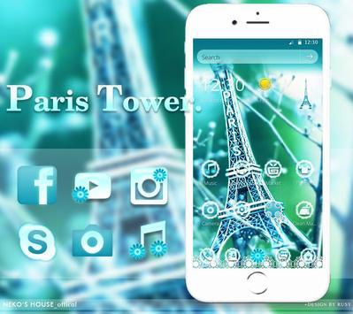 Elegant Paris Eiffel Tower Theme poster