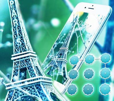 Elegant Green Paris Eiffel Tower Theme apk screenshot