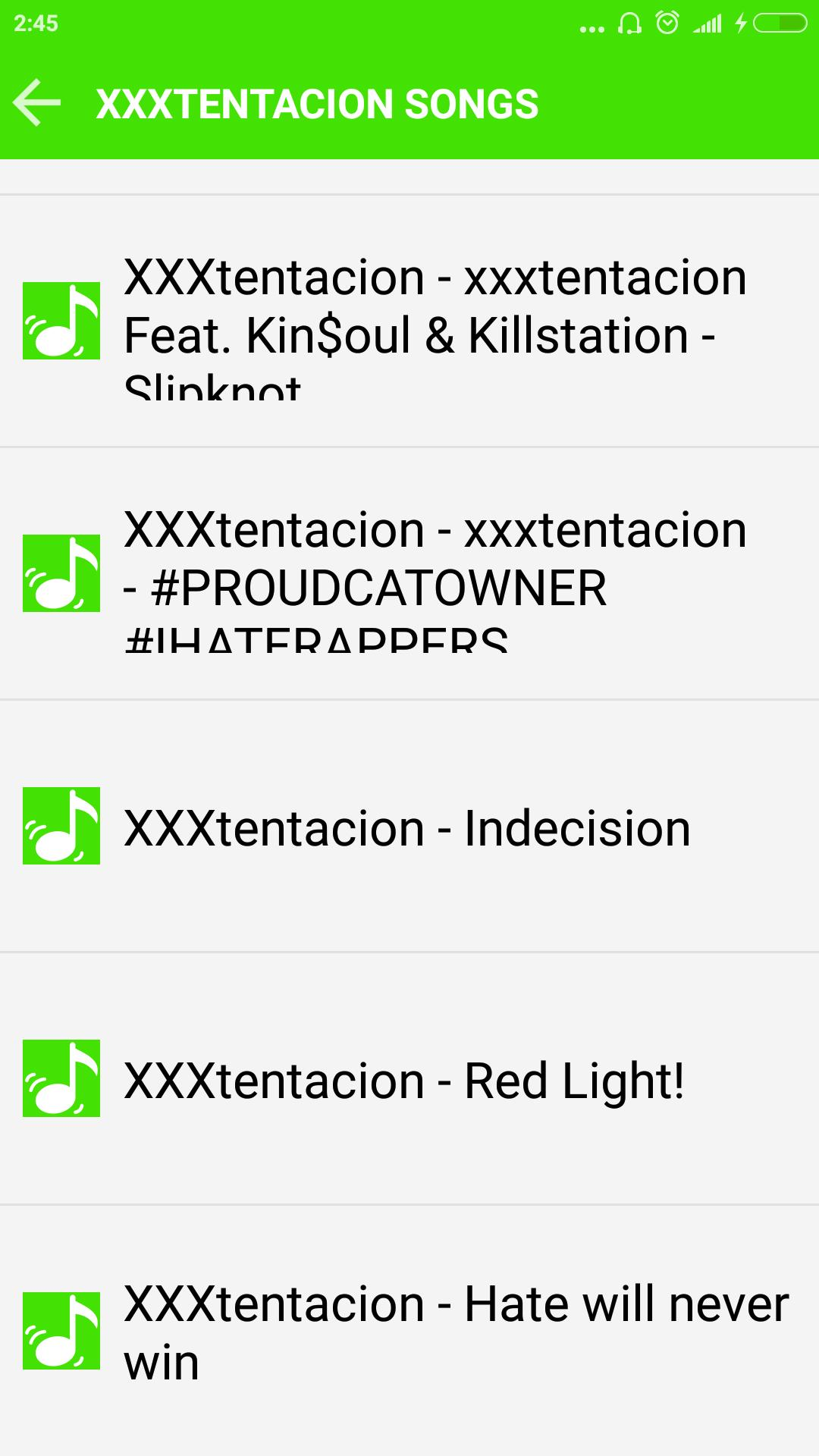 Xxxtentacion All Songs For Android Apk Download