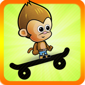 Baby Monkey Skate Run icon