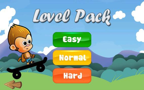 Baby Monkey Skate Run screenshot 1