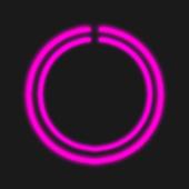 Pink C-Circle Neon Clock icon