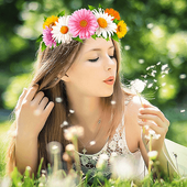 Flower Crown Photo Filter icon