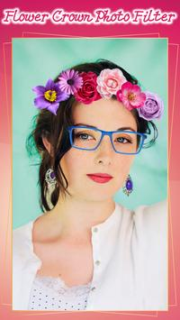 Flower Crown Photo Filter poster