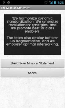 The Mission Statement poster