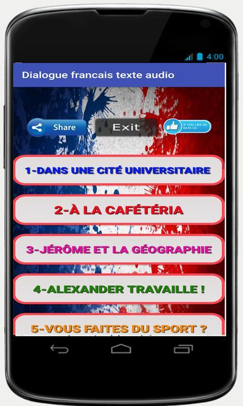 French podcast for beginners mp3 audio texte free for android.