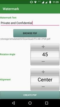 PDF Utils (Merge/Reorder/Split/Extract/Watermark) apk screenshot