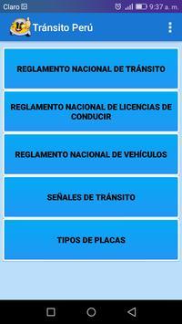 Transito Perú poster