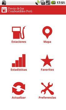 Precio Combustibles Perú poster