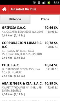 Precio Combustibles Perú apk screenshot