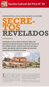 Gaceta Cultural del Perú Nº 50 apk screenshot