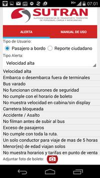 Alerta SUTRAN screenshot 1
