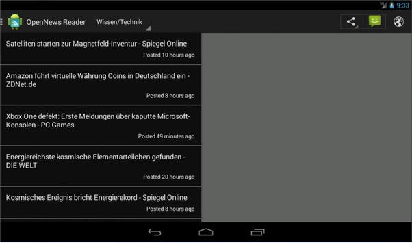 OpenNews Reader apk screenshot
