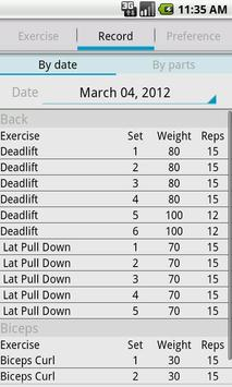 Fitness Manager Eng apk screenshot