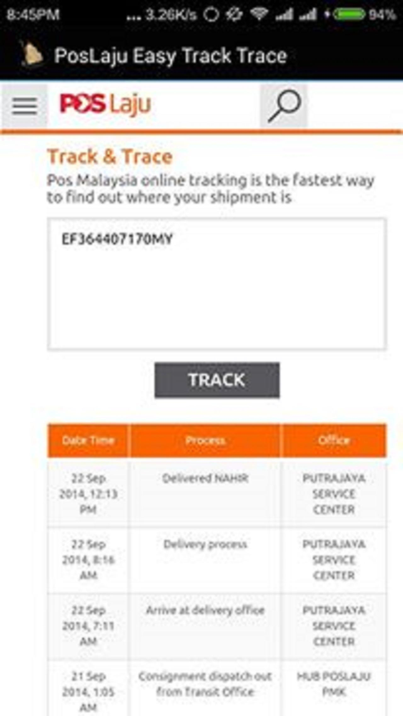 Poslaju Easy Track Trace For Android Apk Download