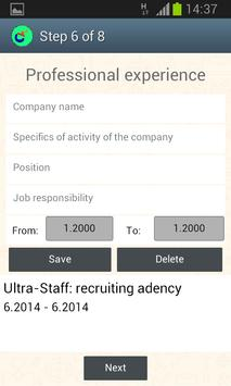 CVMaster – Resume / CV Free apk screenshot
