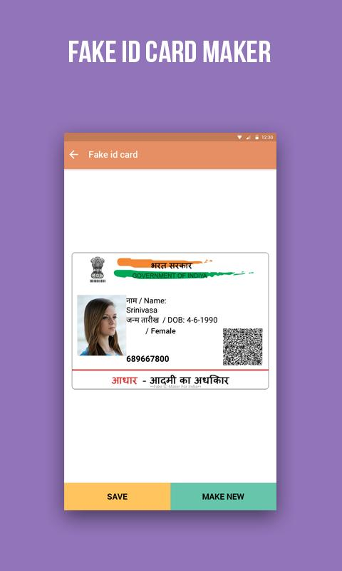 Fake Aadhar Card Maker for Android - APK Download