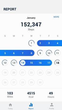 Pedometer - Hitung Langkah Gratis & Bakar Kalori screenshot 1