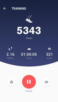 Pedometer - Hitung Langkah Gratis & Bakar Kalori screenshot 2