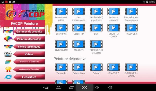 FACOP Peintures apk screenshot