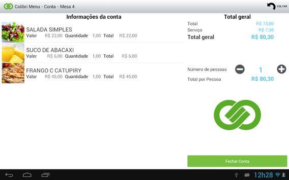 Colibri Menu (8.4.5) screenshot 2