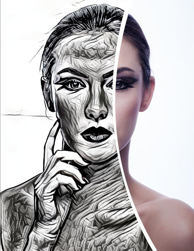 Photo sketch maker sketch by pencil screenshot 1