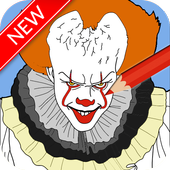 drawing IT clown icon
