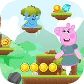Pepa Happy Pig Run icon