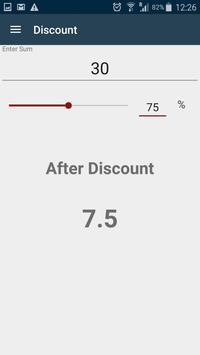Simple percent calculator apk screenshot